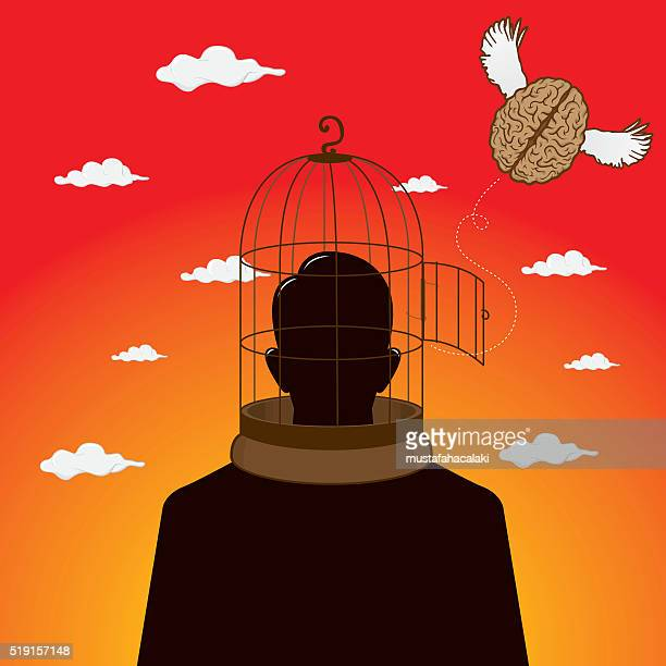 free brain - surrealism stock illustrations