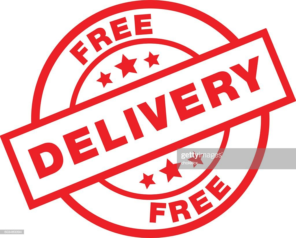 free delievery sign : stock illustration