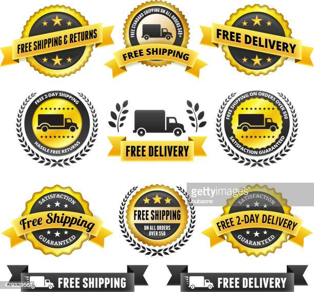 Free Delivery badge set