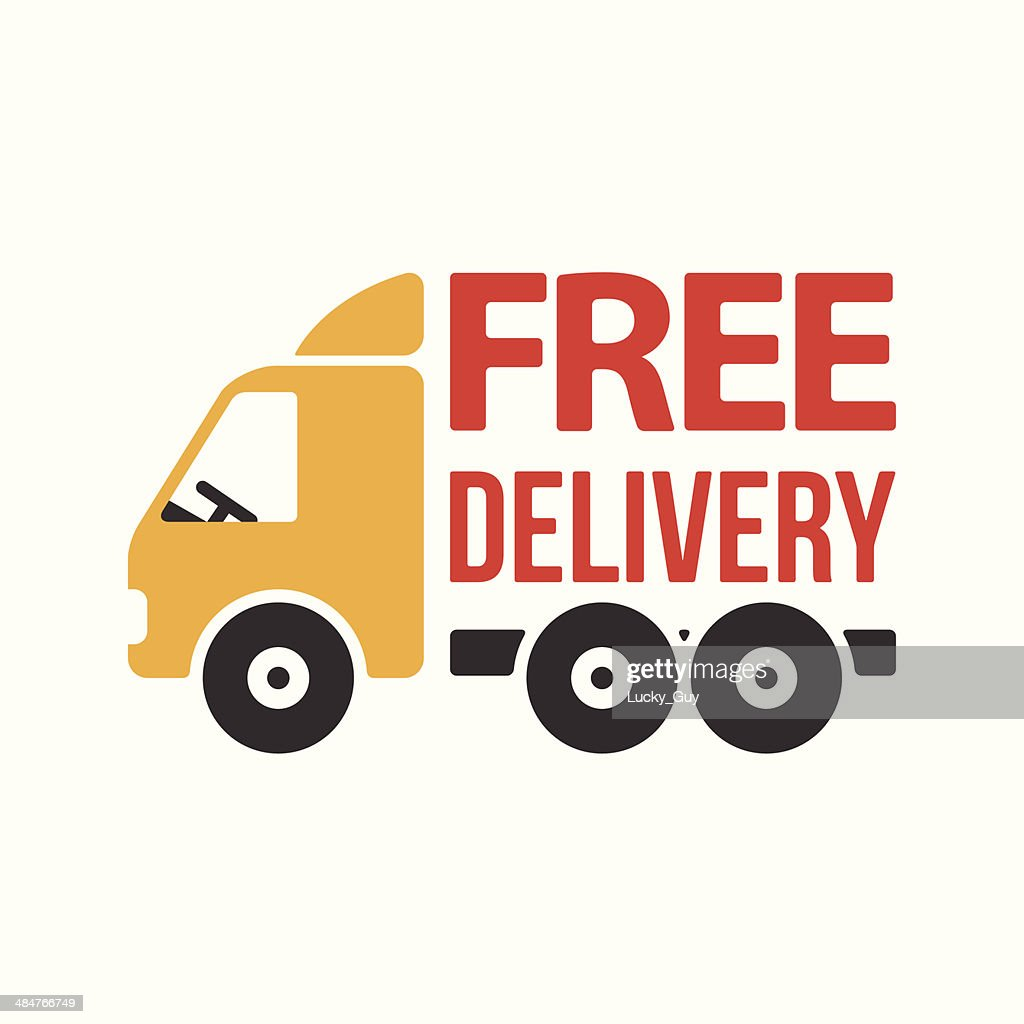 Free Delivery Icon. Flat Style. Vector