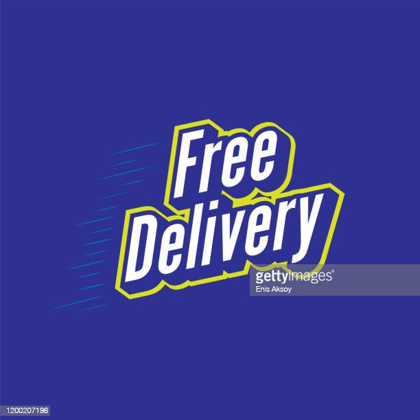 free delivery lettering - free of charge stock illustrations