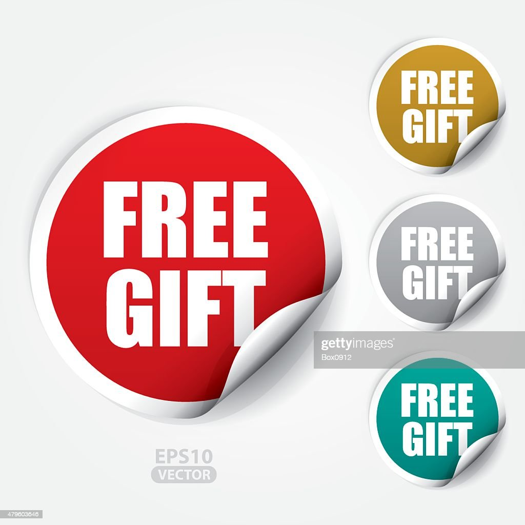 Free Gift ticker and Tag