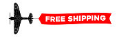 free shipping advertisement banner