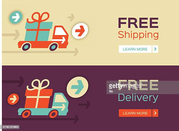 free shipping and delivery - free of charge stock illustrations