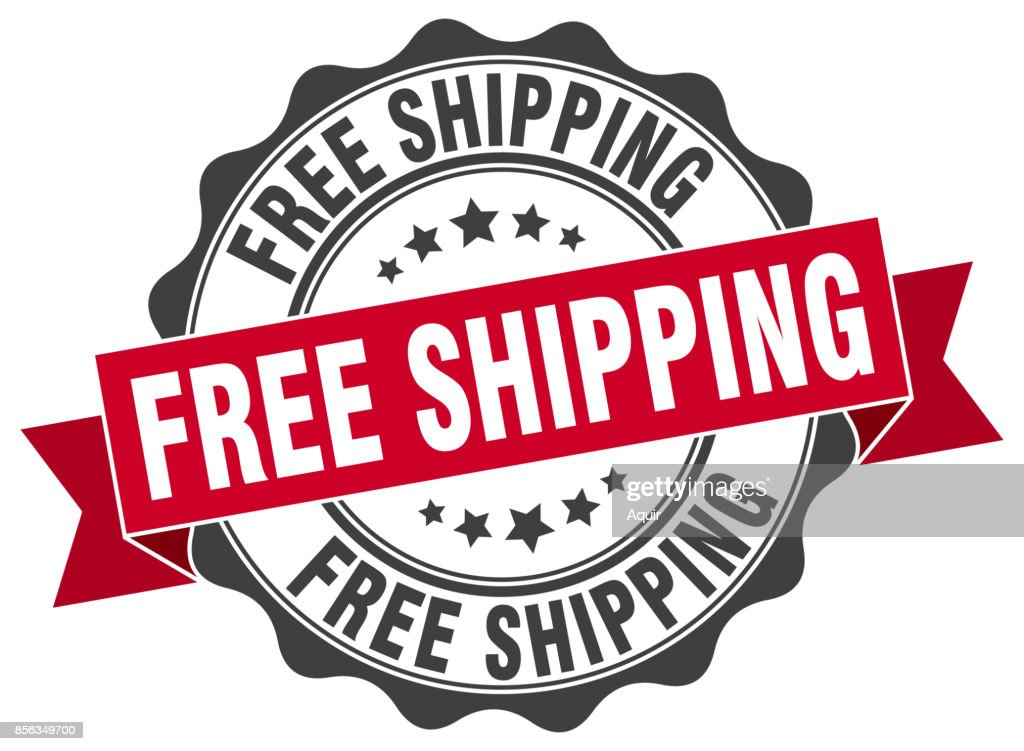 free shipping stamp. sign. seal