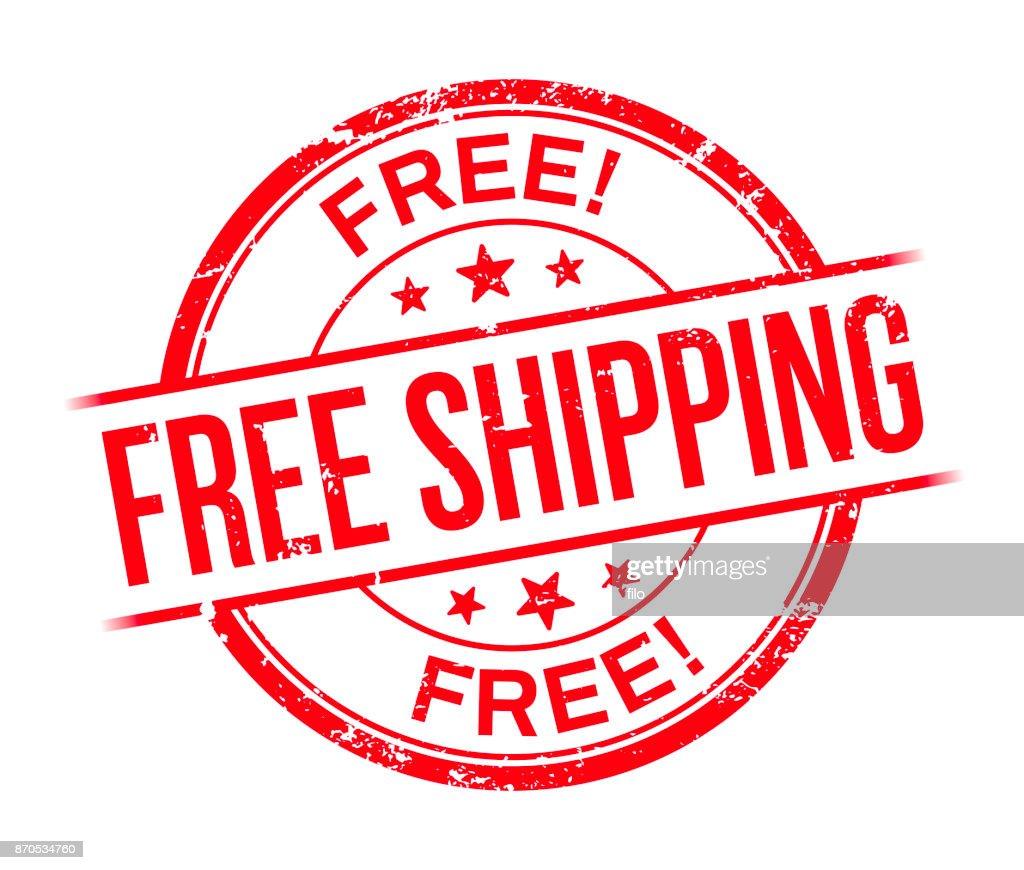 Free Shipping Stamp : stock illustration