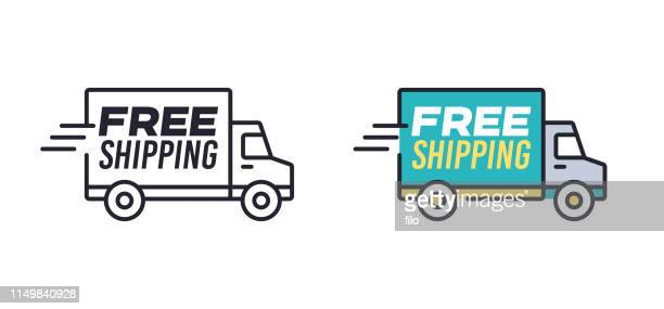 free shipping - freedom stock illustrations