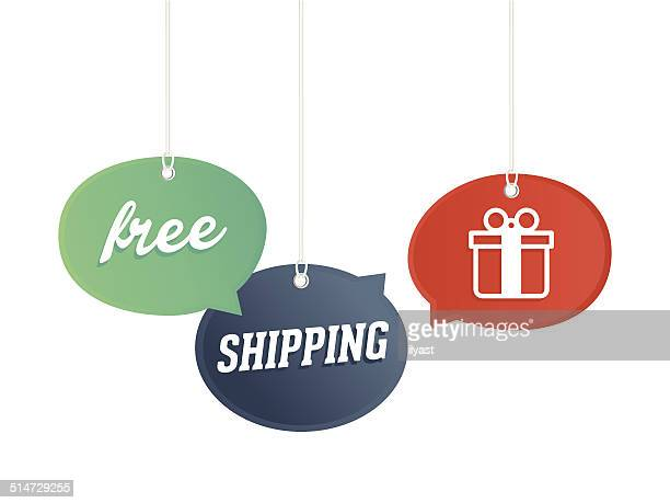 free shipping! - free of charge stock illustrations