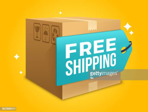 free shipping - shipping stock illustrations