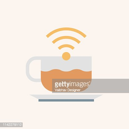 Free Wifi Area Freelancer Concept Illustration stock illustration