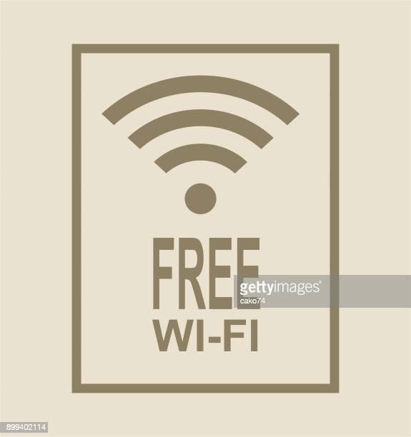 Free wi-fi icon