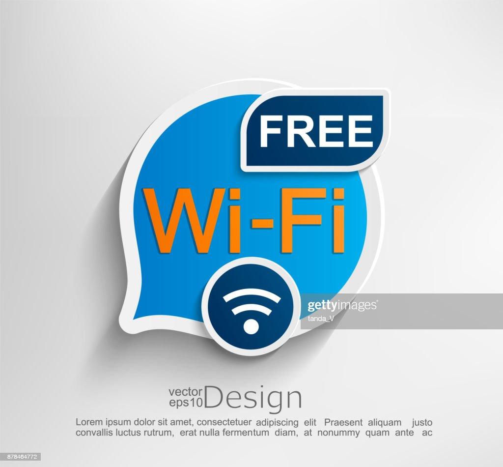 Free wifi symbol.