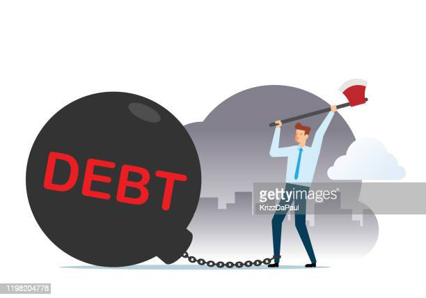 freedom from debt - retail employee stock illustrations