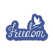 Freedom. Inspirational quote about happy.