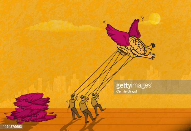 freedom of thought - surrealism stock illustrations