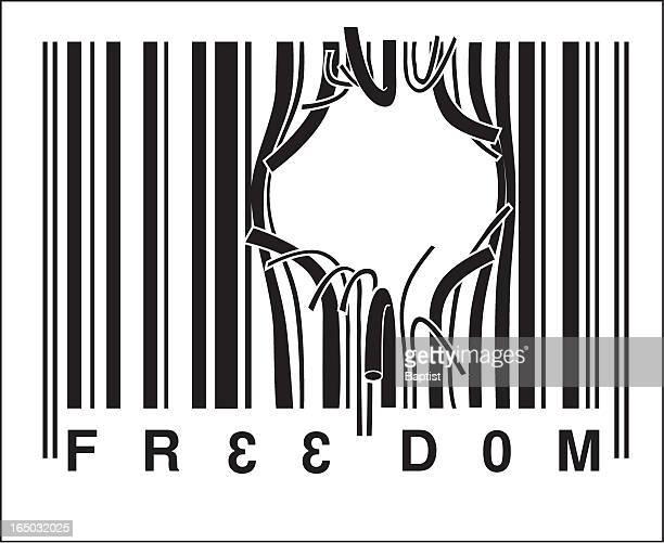 illustrations, cliparts, dessins animés et icônes de la liberté (vecteur - code barre