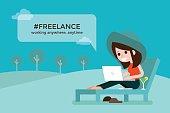 Freelance girl.