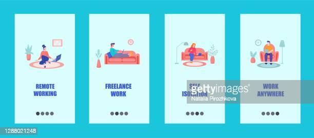freelance mobile app template concept remote