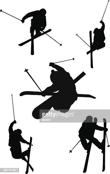 silhouettes de ski Freestyle
