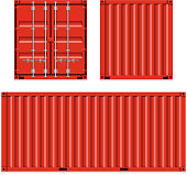 Freight shipping, cargo containers