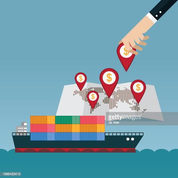 freight transportation - rail freight stock illustrations, clip art, cartoons, & icons