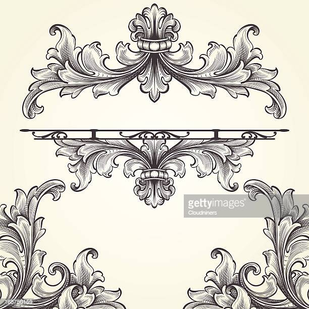 French Acanthus Engraving Set