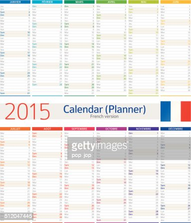 Magnificent French Calendar Template Photos Resume Ideas