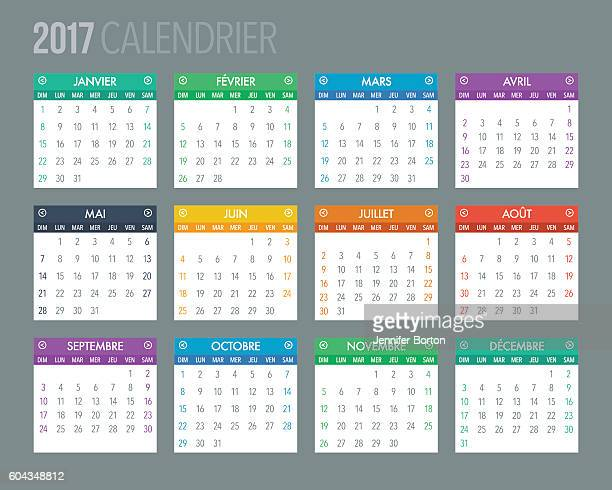2017 French Calendar Template