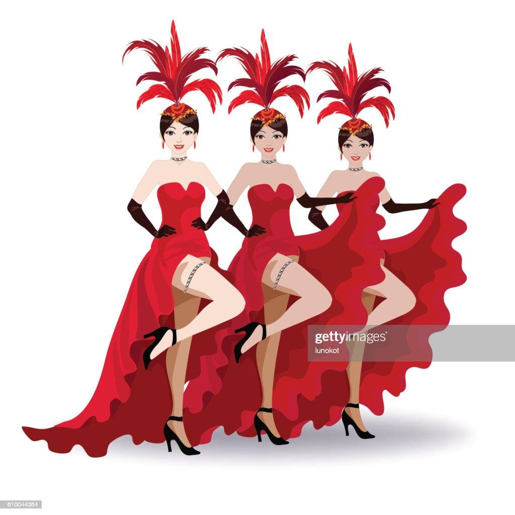 French cancan dancers