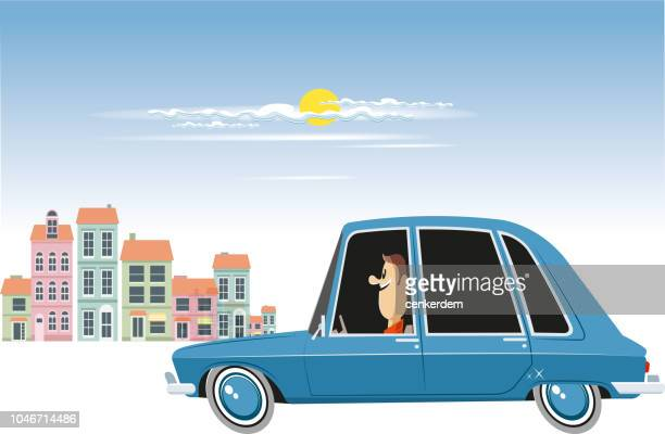 french car - car ownership stock illustrations, clip art, cartoons, & icons