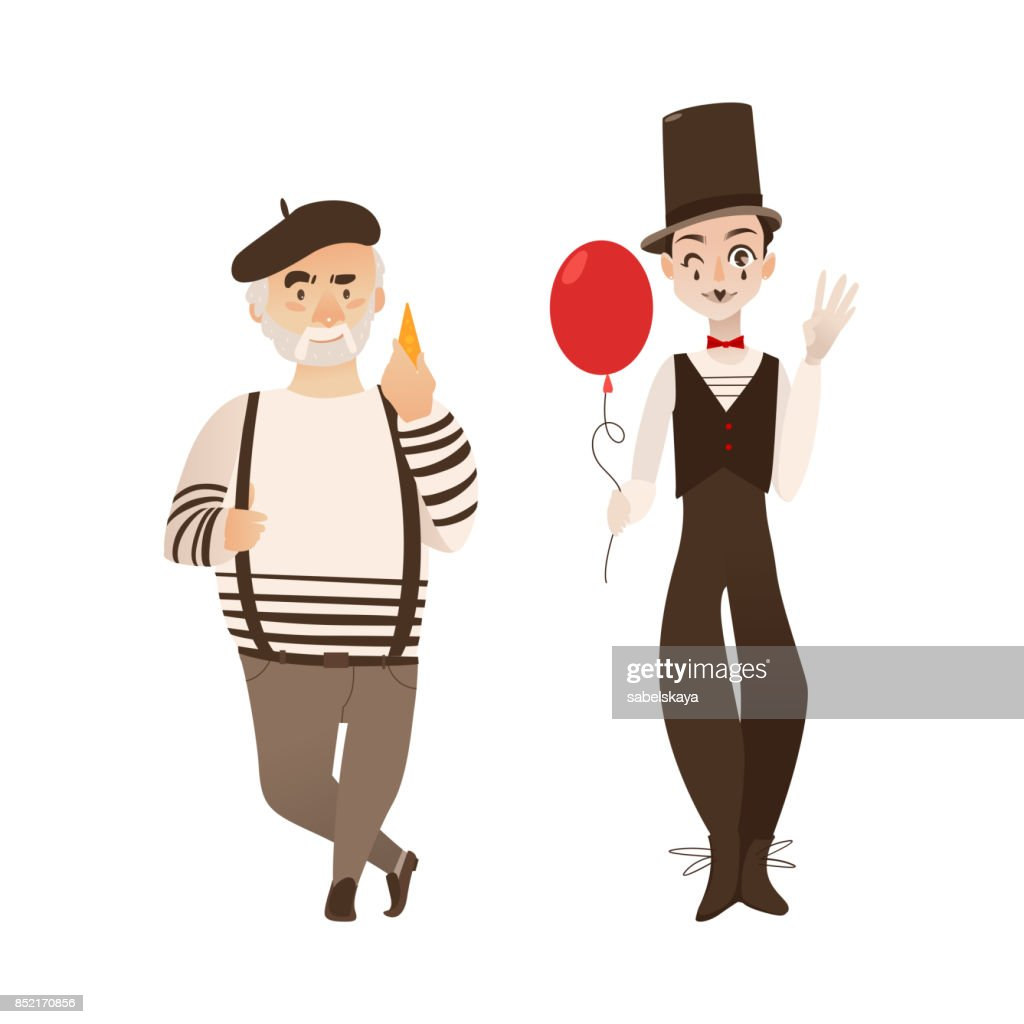 French characters, typical artist and mime
