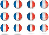 French cool buttons set