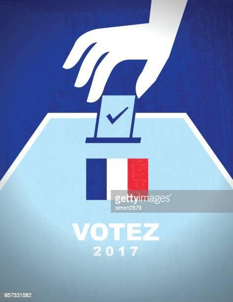 ilustraciones, imágenes clip art, dibujos animados e iconos de stock de elecciones francesas - urna de voto