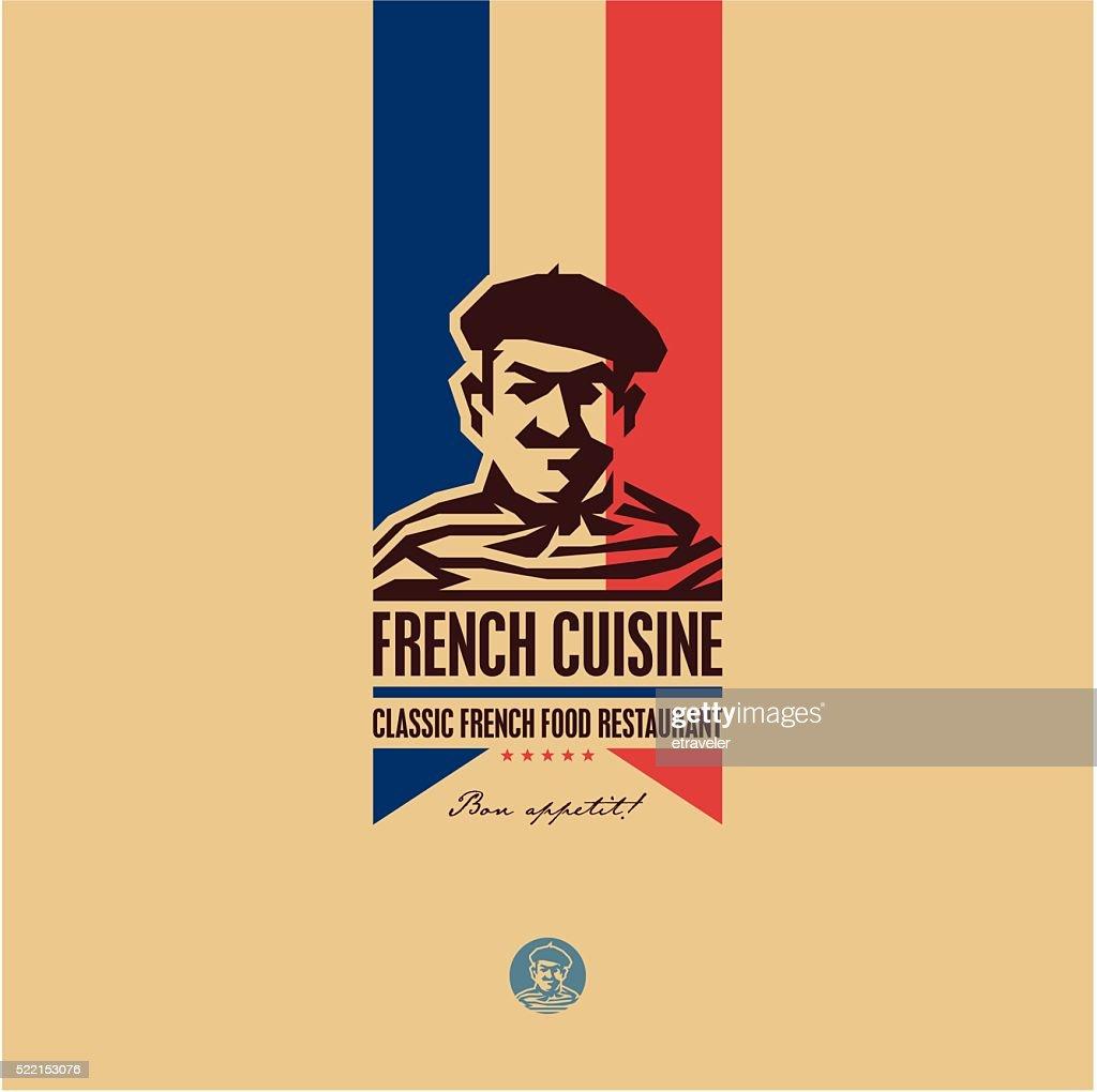French food, French cuisine restaurant logo