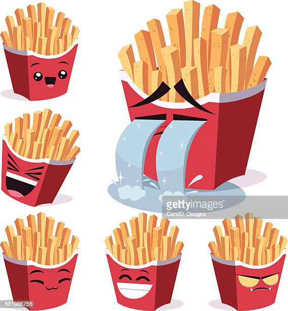 French Fries Cartoon Set B