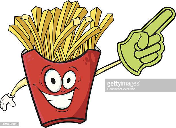 french fries cartoon # 1 - french fries stock illustrations, clip art, cartoons, & icons