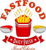 French fries fast food menu symbol