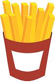 french fries fast food potato fresh