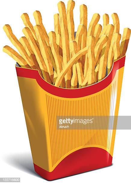 French Fries in cardboard package