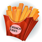 French Fries Inside Box