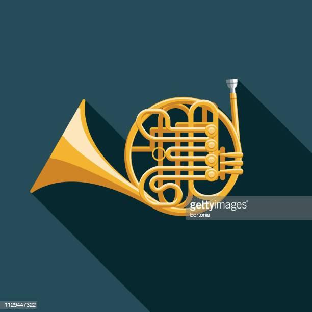フレンチ ホルン楽器アイコン - ブラスバンド点のイラスト素材/クリップアート素材/マンガ素材/アイコン素材