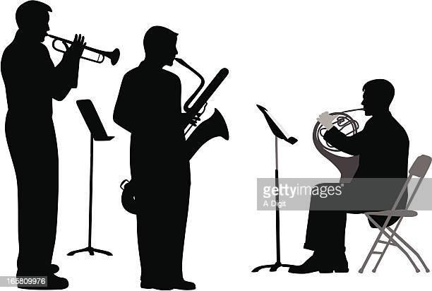 illustrations, cliparts, dessins animés et icônes de frenchhorn - pupitre à musique