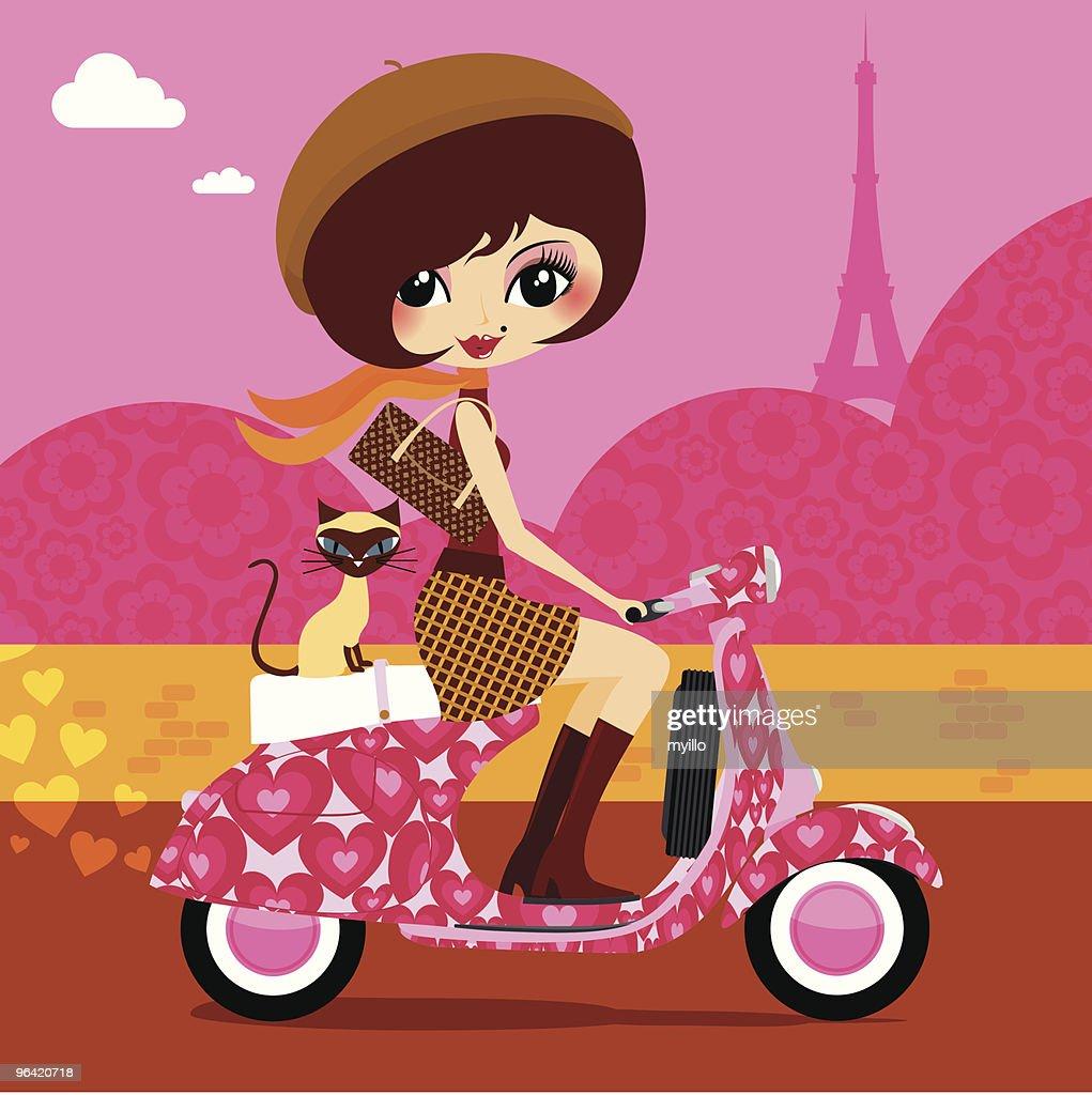 French love vespa
