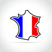 french map icon on white background