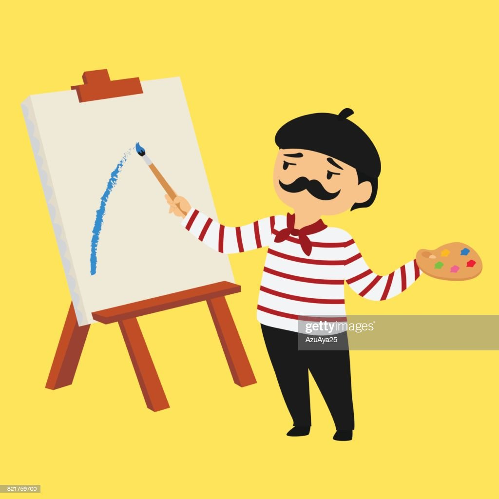 French Painter Vector Illustration