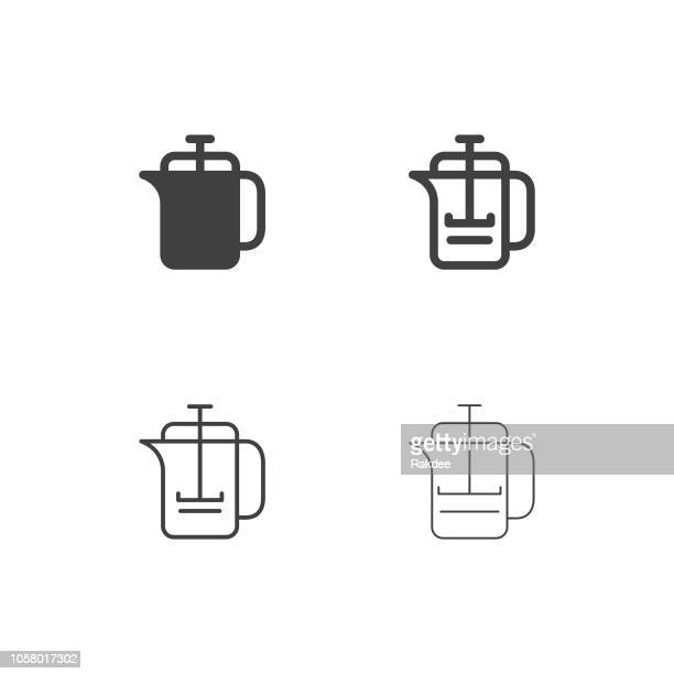 French Press Icons - Multi Series