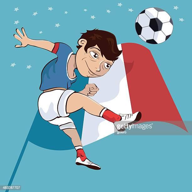 illustrations, cliparts, dessins animés et icônes de français joueur de football - tenue de football
