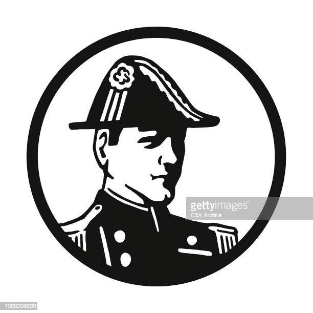french soldier - epaulettes stock illustrations