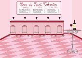 French style Valentine's Day wine bar
