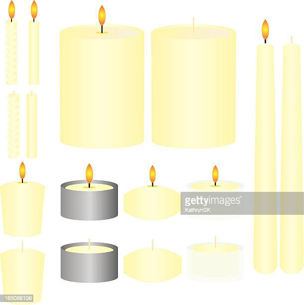 illustrazioni stock, clip art, cartoni animati e icone di tendenza di french vanilla candele - cero
